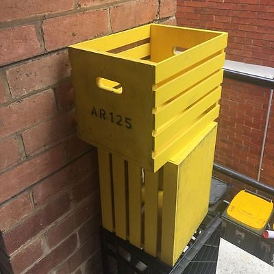 Industrial style crates x 2 Yellow