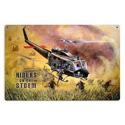 "SIGN- Metal, Bell UH-1 Huey Viet Nam Iroquois ""Riders on the Storm"" SIG-0132"