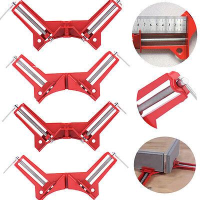 2X 4X 90 Degrees 100mm Right Angle Clamp Mitre Corner Clamp Picture Holder Tools