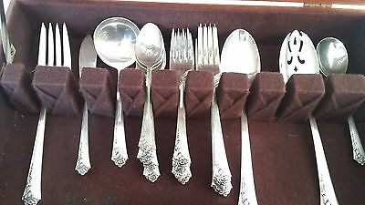 Heirloom Sterling Silver Damask Rose Flatware 30 pieces Service for 6