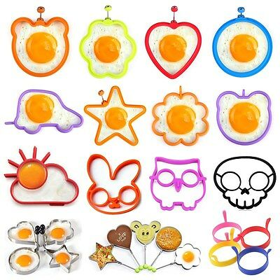 30 Styles Kitchen Fried Egg Shaper Pancake Ring Mould Mold Funny Cooking Tool