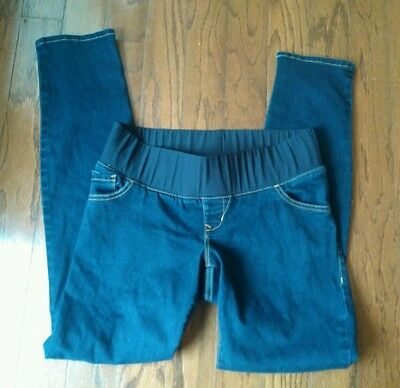 old navy skinny maternity jeans size 4, low panel