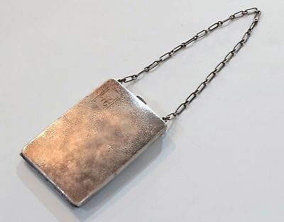ANTIQUE  STERLING SILVER DANCE CARD COIN PURSE  W. M. Co 0779