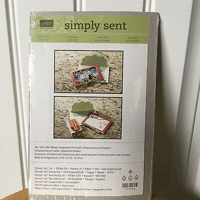 NEW retired Stampin Up Simply Sent card kit - Noel Notes