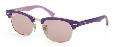 NEW Authentic RAY- BAN Junior Clubmaster Purple Pink Sunglasses RJ 9050 S 179/7E