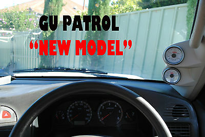 2 GAUGE PILLAR POD TO SUIT NISSAN GU Y61 PATROL ALL YEARS 52MM painted K