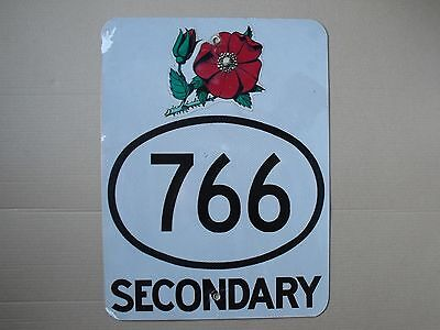 Alberta Canada Wildrose provincial highway 766 route road sign USED AUTHENTIC