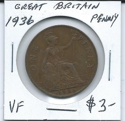 Great Britain 1936 Penny