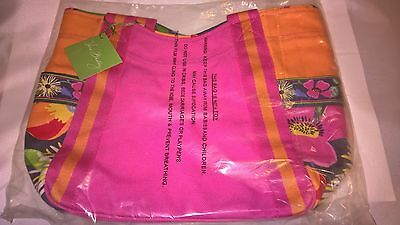 NWt Vera Bradley Jazzy Blooms Small Colorblock Canvas Tote 12670-138 MSRP $50