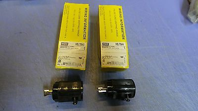 2 - Hubbell HBL7594V Twist lock plug male 2-pole 3-wire grounding NEW in Box