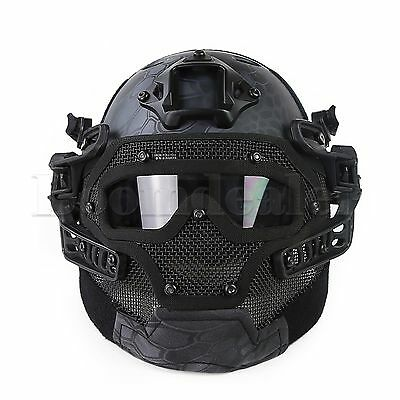 All-round Tactical Airsoft Fast Helmet Paintball Mask Goggles & G4 System No Fog
