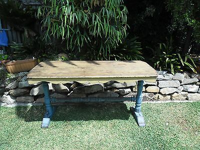 Vintage or Antique Dining table with stretcher base German influence