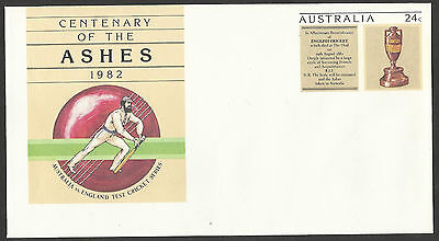 AUSTRALIA ASHES 1982 CRICKET PSE Pre Stamped Envelope MINT.