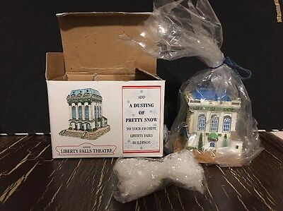 NEW Liberty Falls Theater--N Scale Building-- AH208--NIB w/ a Dusting of Snow