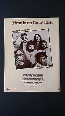 """Doobie Bros.  """"time Is In Their Side"""" (1978) Rare Original Print Promo Poster Ad"""