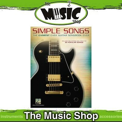 'Simple Songs' The Easiest Easy Guitar Songbook Ever Music Book with Tab