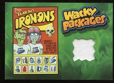 2015 Topps Wacky Packages Series 1 Wardrobe Relic Card - Fear-Out Iron-Ons