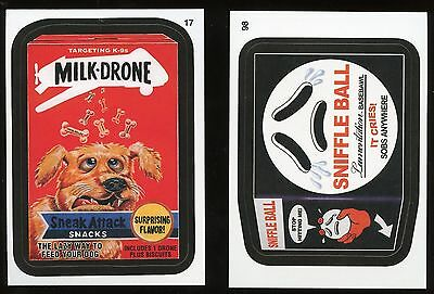 2015 Topps Wacky Packages Series 1 CHARACTER Back Parallel #98 Sniffle Ball