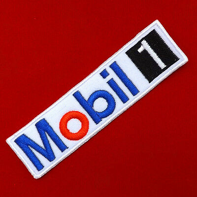 1pc.x mobil 1 racing oils auto lube formula1 embroidered iron on sew patch badge