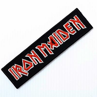 1pc.x iron maiden tribute rock music band embroidered iron on sew patch badge