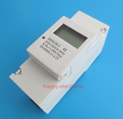 5(65)A 230V 50HZ Single phase Din rail KWH Watt hour din-rail energy meter LCD