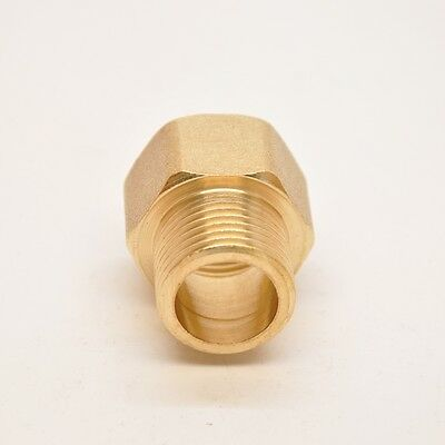 "Pipe Fitting NPT 3/8"" Female to 1/8"" Male Coupling Brass Gauge adapter N-A3"