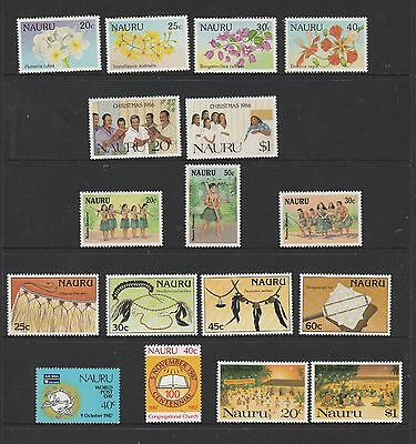 Nauru 1986/7  Sets of  Mint Stamps total of 17 stamps
