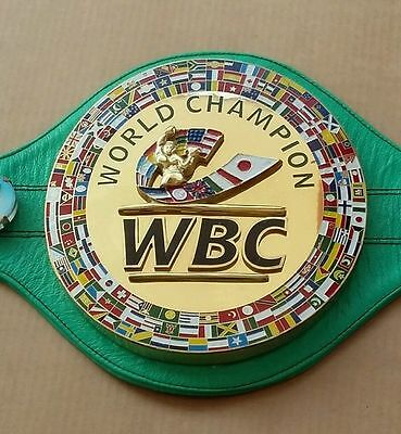 Wbc championship-boxing-belt-3D-real-Leather-replica-adult size brand bew