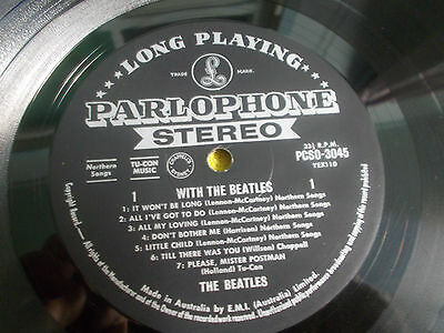 """THE BEATLES """" WITH THE BEATLES """"1963 ALBUM.AUSTRALIAN 1st PRESS STEREO RELEASE"""