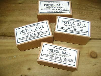 WW2 US Army pistol ammo boxes, repro