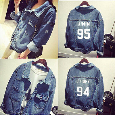 KPOP BTS In Bloom Hole Denim Shirt Young Forever Unisex Bangtan Boys Jacket Coat