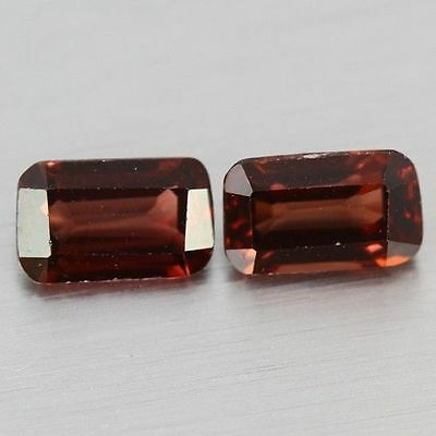 2.400 Cts Full Fire Natural Natural Earth Mine Red Zircon Loose Gemstone Pair