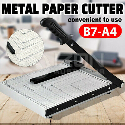 New A4 To B7 Paper Photo Cutter Guillotine Trimmer Knife Metal Base Portable AU