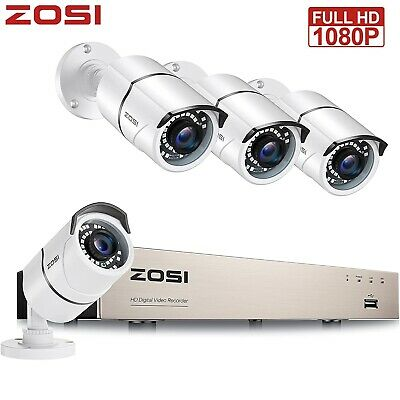ZOSI 720P 8CH 1080N DVR CCTV Home Security Camera System Surveillance Gift 1T HD