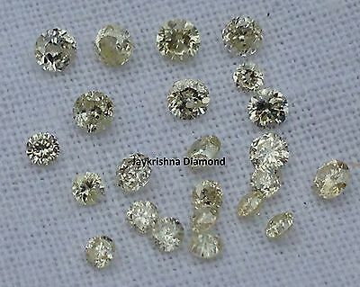 1.50 ct lot 1.5-2.0 MM Natural L.C Color Polished Round Shape Cut Loose Diamond