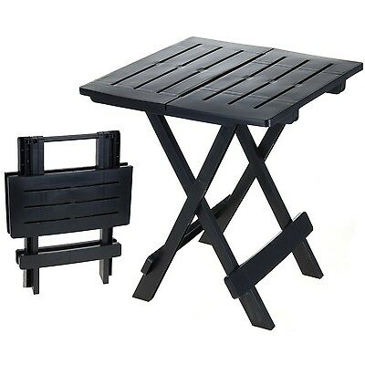 New Outdoor Sturdy Lightweight Small Black Portable Folding Picnic Camping Table