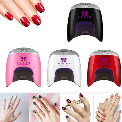 Pro 48W 24pcs LED Nail Lamp Gel Polish Curing Nail Dryer Timer Manicure Machine