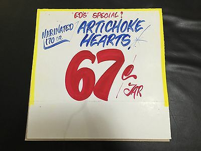 Honest Ed's Eds ARTICHOKE HEARTS BARGAIN? Authentic Stamped Sign
