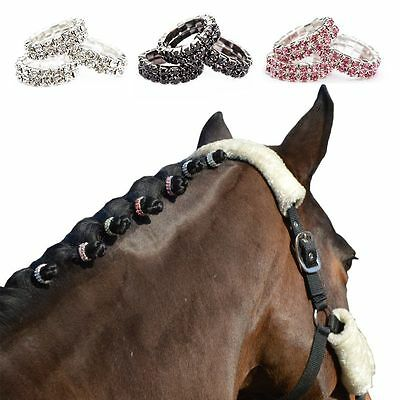 Equidivine Crystal Plaiting Bands 20 Pieces Glitter Pony Cob Full choose color