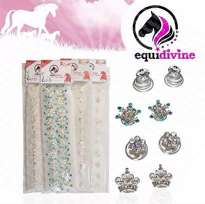 Equidivine Crystal Plaiting Twists 20 Pieces Glitter Pony Cob Full Showing Bling