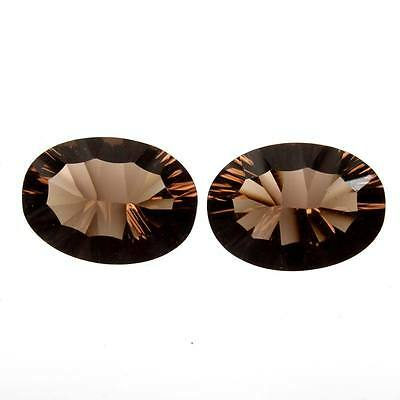 Fabulous Oval Concave 9.5 Cts SMOKY QUARTZ Gemstone 14x10 mm For Earring s-22319