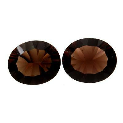 Superb SMOKY QUARTZ 8.5 Cts Gemstone Oval Concave 12x10 mm For Earring s-22310