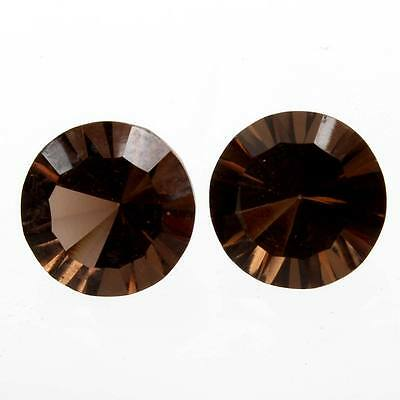 Excellent 10x10 mm SMOKY QUARTZ Round Concave Gemstone 7 Cts For Earring s-22331