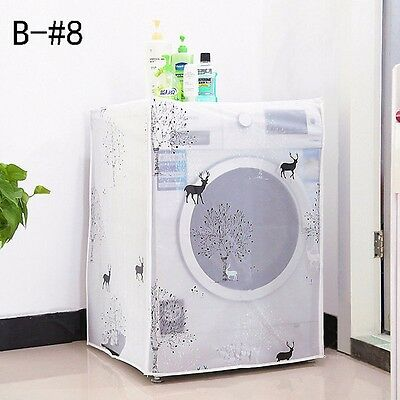Waterproof Washing Machine Zippered Top Front Dust Cover GuardProtection