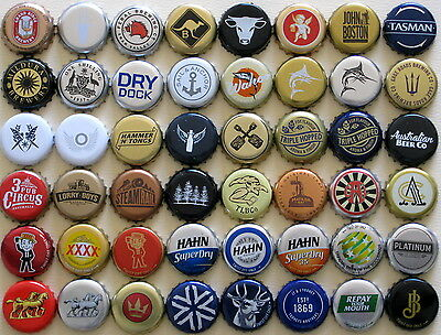 48 Australian Beer Bottle Caps Mostly Small Craft Breweries Few Large Brewers
