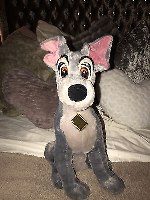 Disney Store Medium The Tramp Teddy Plush, Lady And The Tramp