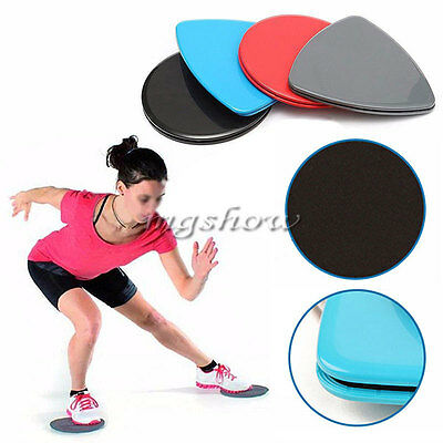 2pcs Fitness Glider Slide Discs Core Sliders Workout Gym Sport Exercise Training