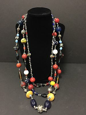 Vintage Millefiori African Trade Beaded Necklace