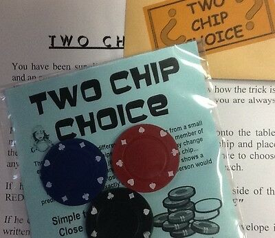 Two Chip Choice magic trick