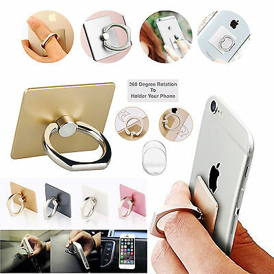 Finger Grip 360° Rotating Ring Stand Holder for Mobile Phones iPhone Tablet iPad